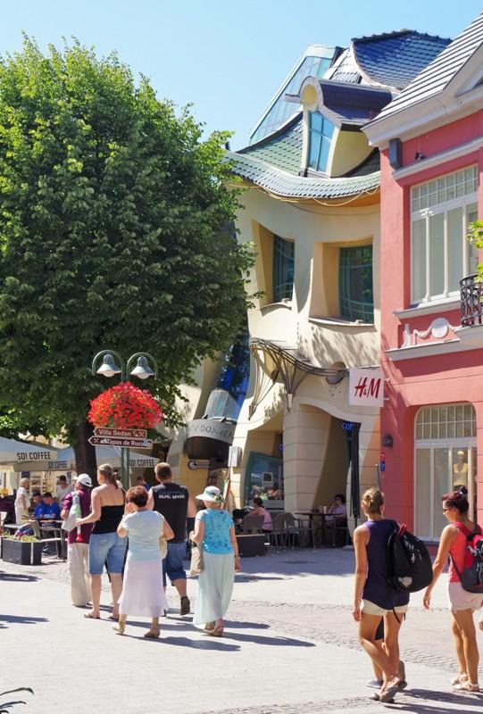 Krokiga huset i Sopot