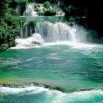 Vattenfall i Nationalparken Krka