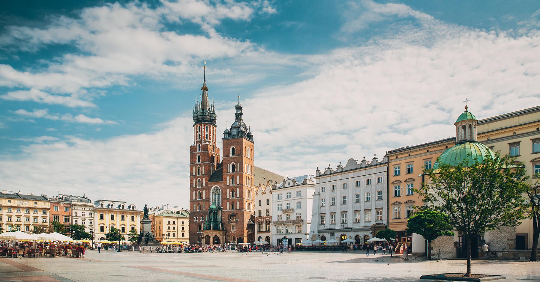 Torg i Krakow, Polen