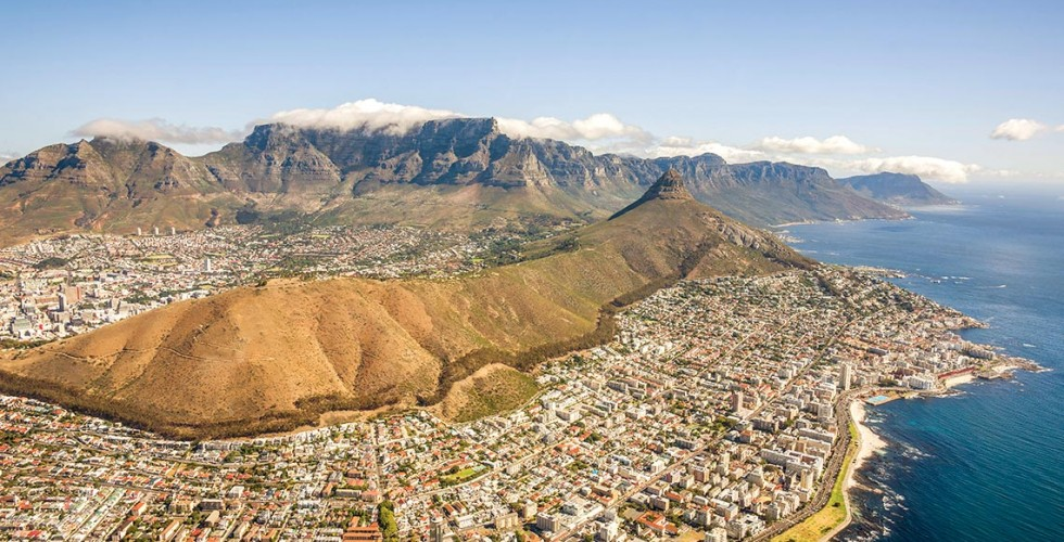 Kapstaden Sydafrika taffelberg
